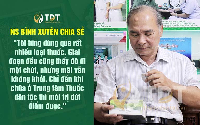 Nghệ sĩ Bình Xuyên công nhận bài thuốc rất tốt và hiệu quả