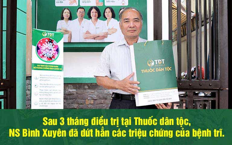 Nghệ sĩ Bình Xuyên điều trị thành công bệnh trĩ tại Thuốc dân tộc