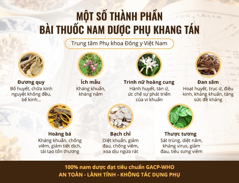 Một số vị thảo dược có trong Phụ Khang Tán