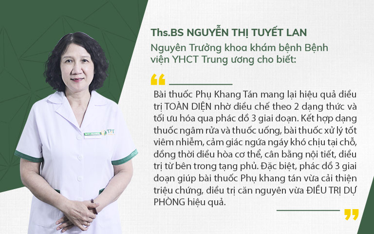 Bác sĩ Tuyết Lan nhận định về Phụ Khang tán