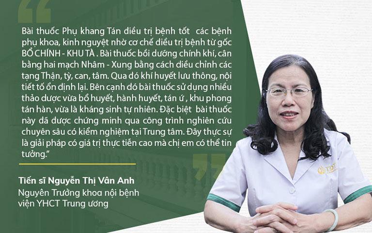 TS.BS Nguyễn Thị Vân Anh nhận xét về phác đồ Phụ Khang Tán