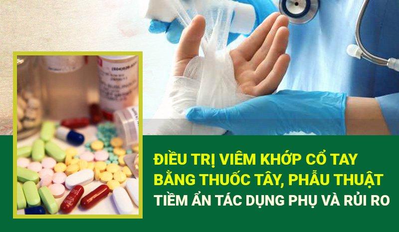 Điều trị viêm khớp cổ tay bằng thuốc Tây, phẫu thuật