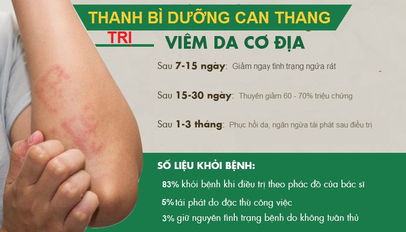 Hiệu quả chữa viêm da cơ địa bằng bài thuốc Thanh bì dưỡng can thang
