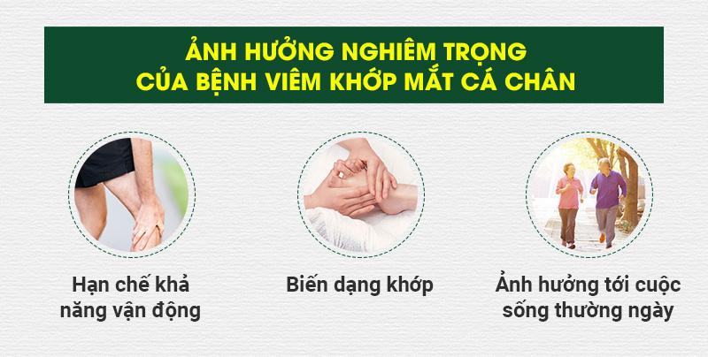 Biến chứng của bệnh viêm khớp mắt cá chân