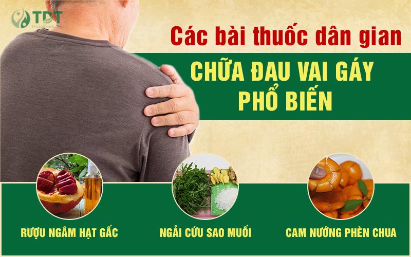 Bài thuốc dân gian chữa đau vai gáy