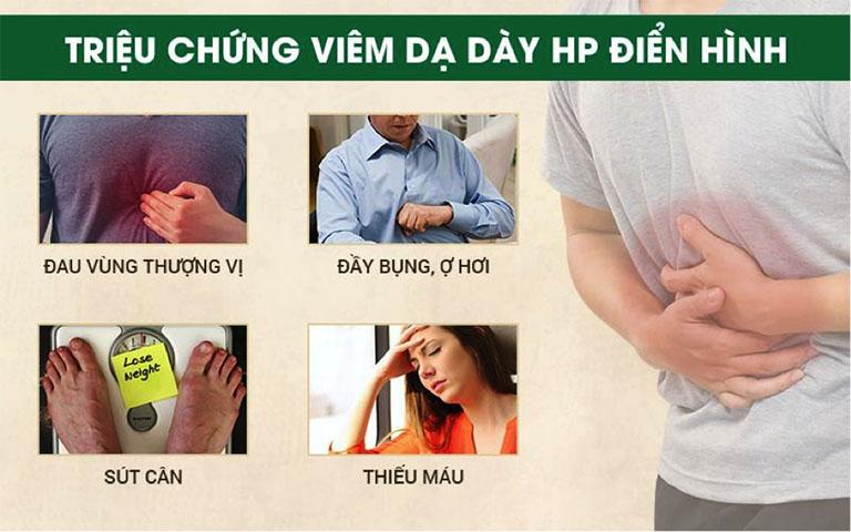 Triệu chứng viêm dạ dày HP