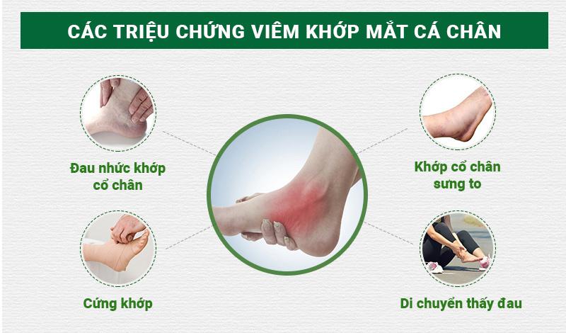 Triệu chứng của bệnh viêm khớp mắt cá chân