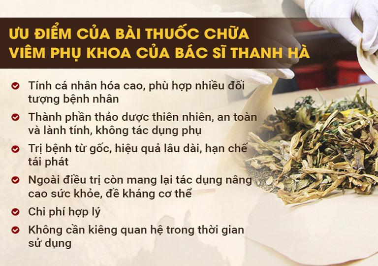 Những ưu điểm trong phương pháp điều trị viêm phụ khoa của bác sĩ Thanh Hà