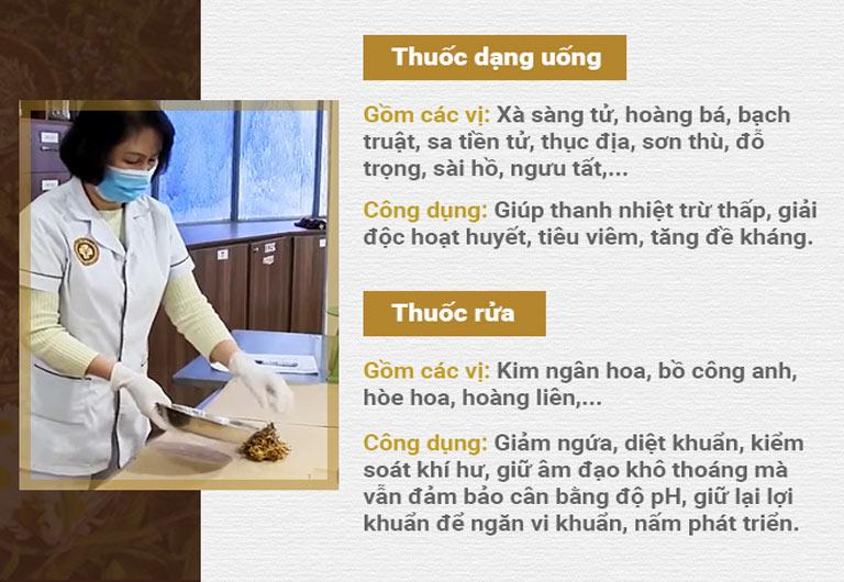 Sự kết hợp giữa thuốc uống và ngâm rửa trong bài thuốc chữa viêm ngứa phụ khoa của bác sĩ Thanh Hà