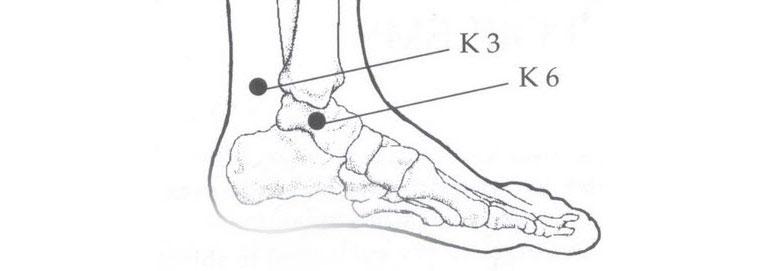 bấm huyệt chữa rối loạn cương dương ở mắt cá chân