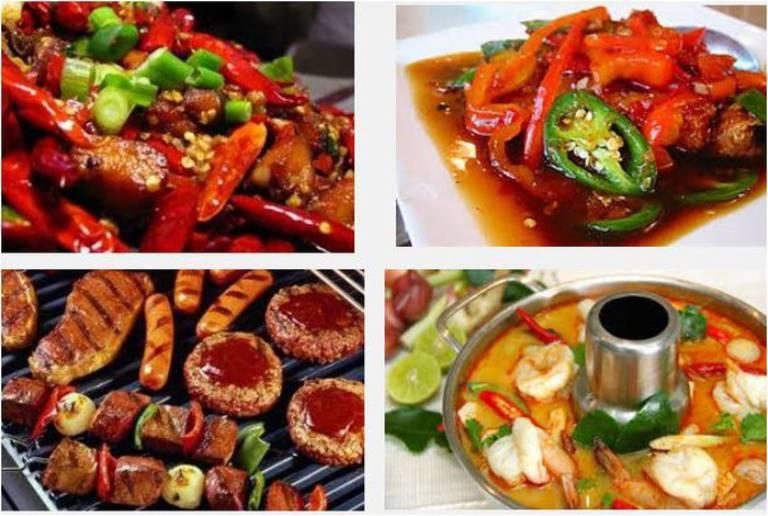 Không nên ăn quá nhiều thực phẩm cay nóng.