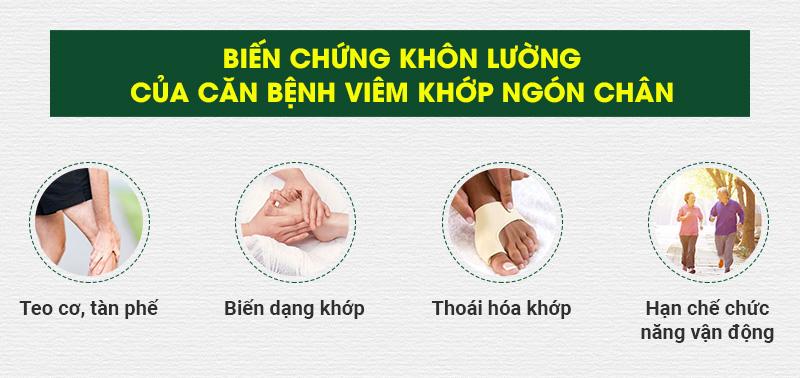 Biến chứng của viêm khớp ngón chân