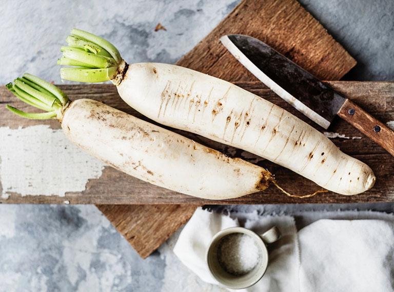 Cách trị ho có đờm bằng củ cải trắng