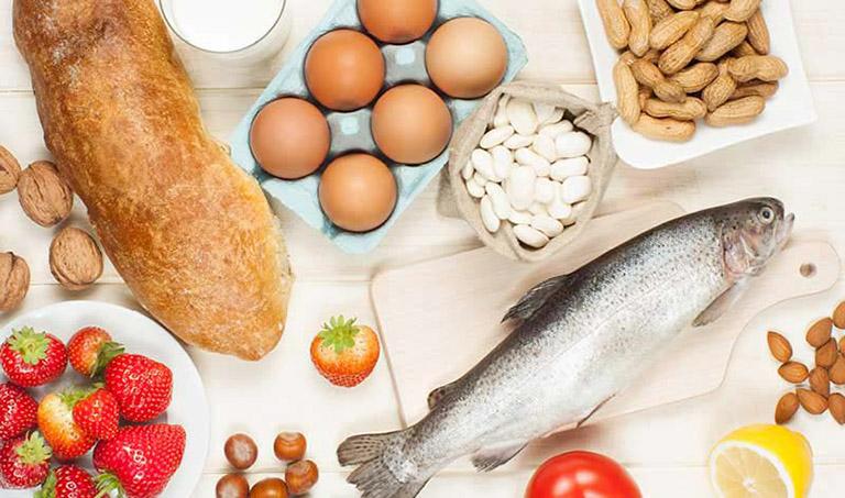 Thực phẩm dị ứng kích ứng chàm thể tạng