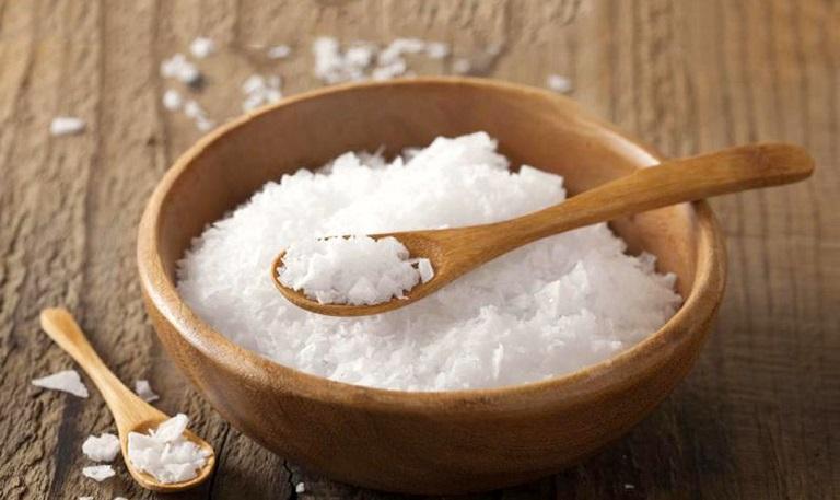 Chữa tổ đỉa bằng muối