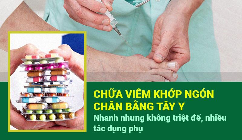 Thuốc Tây chữa bệnh viêm khớp ngón chân