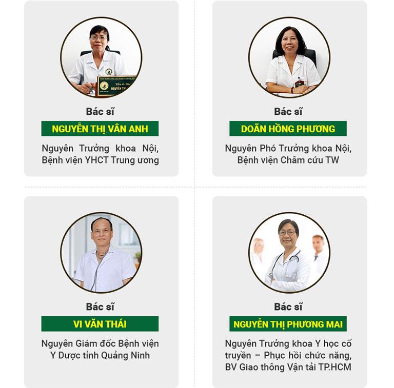 Đội ngũ bác sĩ trị liệu của Trung tâm Thuốc dân tộc
