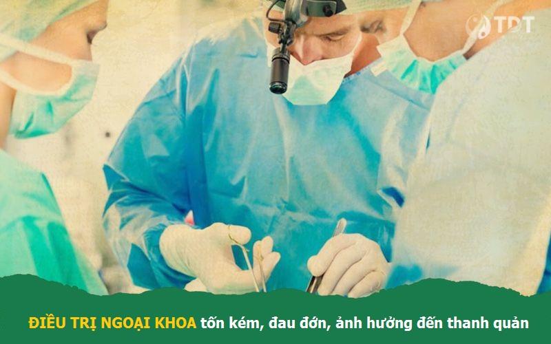Điều trị ngoại khoa chữa viêm họng