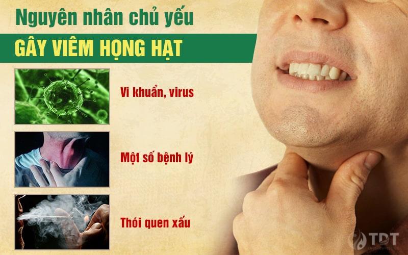 Nguyên nhân gây viêm họng hạt