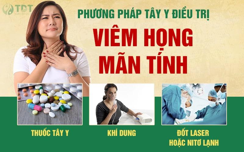 Tây y điều trị viêm họng mãn tính