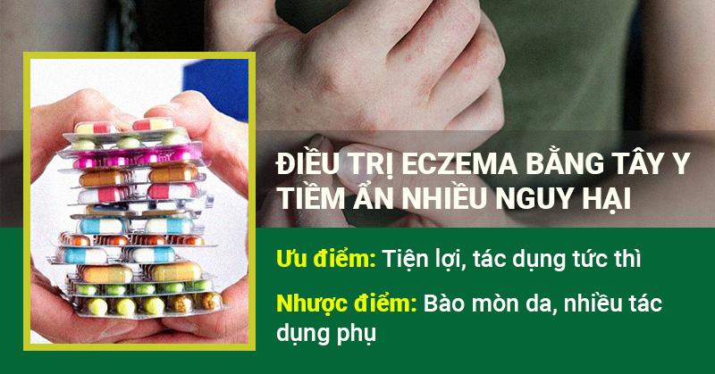 Điều trị eczema bằng Tây y - tiềm ẩn nhiều nguy hại