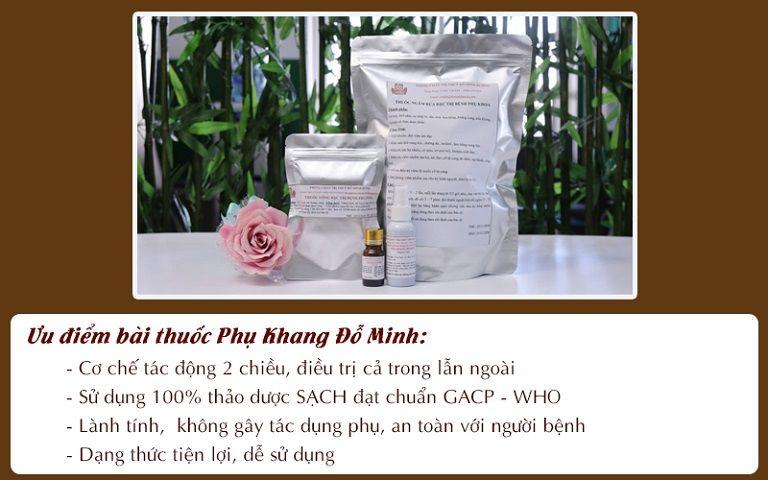 Những ưu điểm nổi bật của bài thuốc Phụ Khang Đỗ Minh