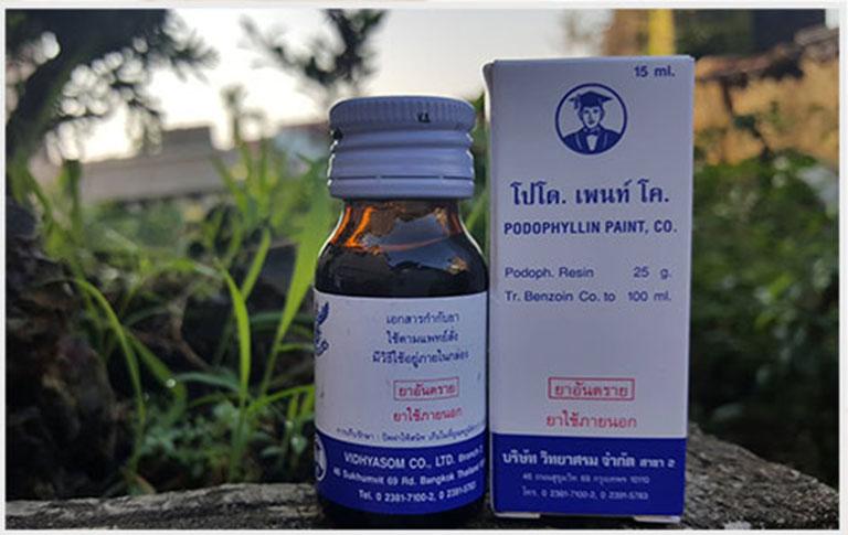 Thuốc Podophylline điều trị bệnh sùi mào gà