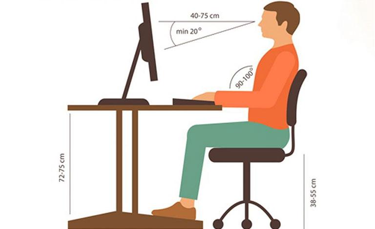 cách điều trị thoát vị đĩa đệm tại nhà nhờ ngồi đúng tư thế