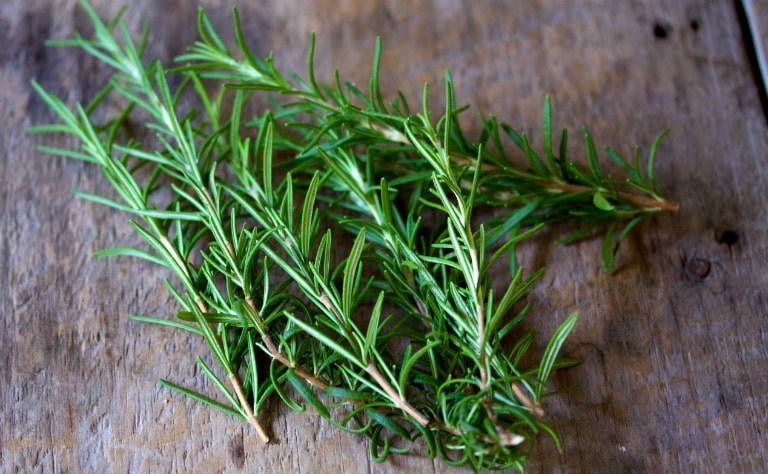 Dùng lá cây hương thảo, nấu canh ăn để chữa cảm nắng.