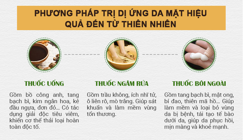 Phương pháp trị dị ứng da mặt hiệu quả đến từ thiên nhiên.