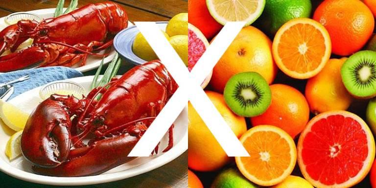 Không ăn trái cây sau khi ăn hải sản