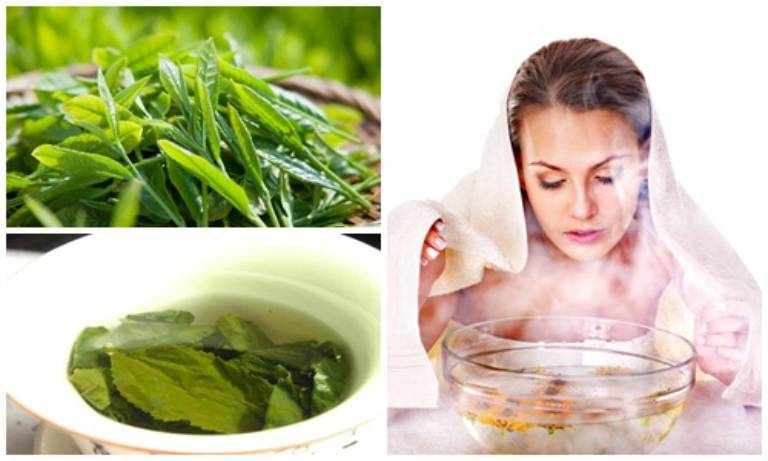 Sử dụng trà xanh để xông hơi làm tăng lưu lượng máu đến da, giúp da được thư giãn