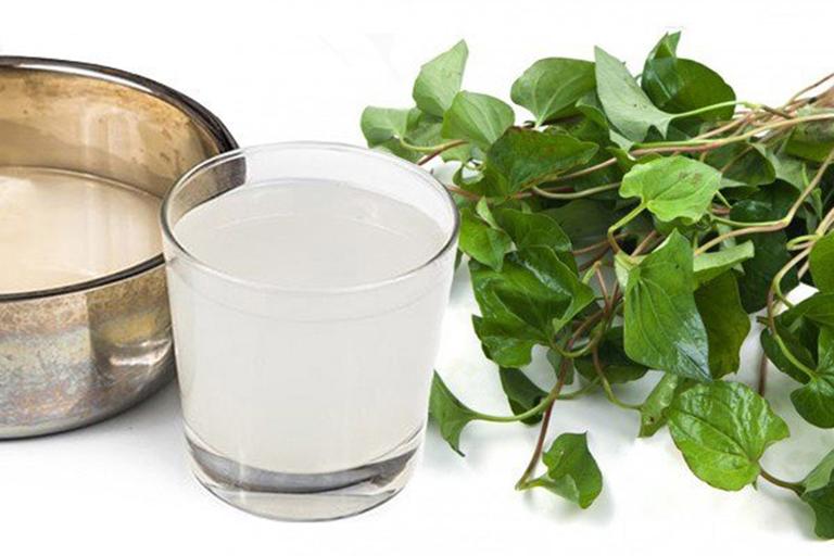 Điều trị ho bằng rau diếp cá và nước gạo