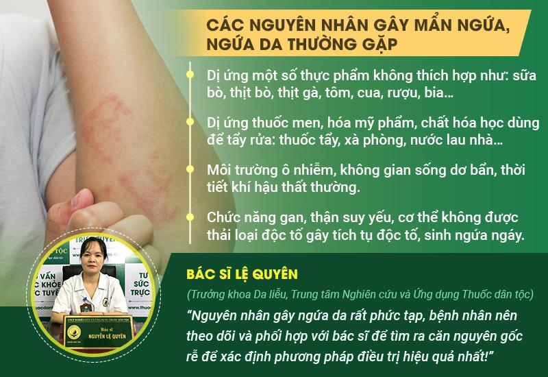 Các nguyên nhân gây mẩn ngứa, ngứa da thường gặp và cảnh báo từ chuyên gia.