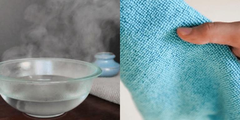 Dùng khăn sạch nhúng nước ấm chườm xung quanh vùng da bị mụn nhọt để giảm đau và khiến các dịch mủ nhanh tích tụ