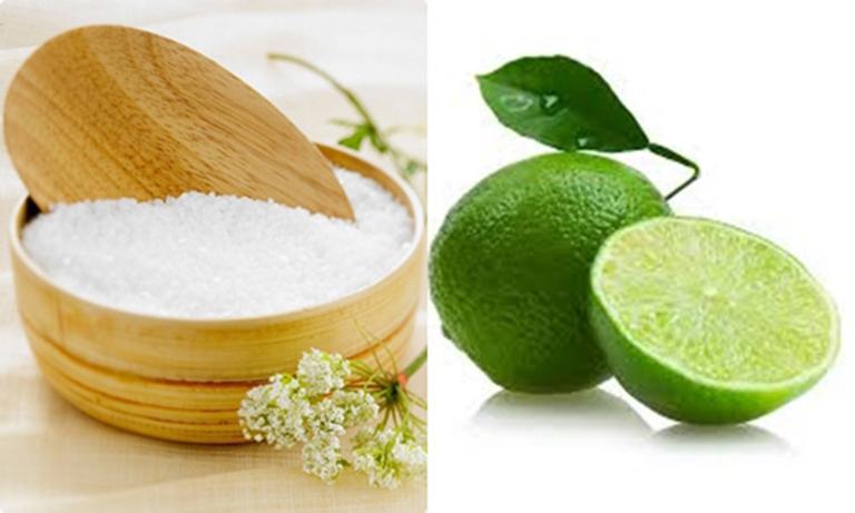 Kết hợp muối và chanh để chữa viêm nang lông