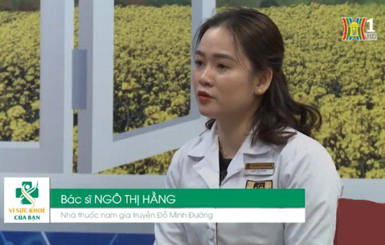 Bs Ngô Thị Hằng tư vấn chữa bệnh phụ khoa trên đài truyền hình Hà Nội
