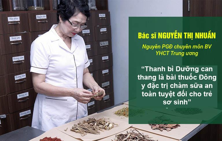 Nhận xét của bác sĩ Nguyễn Thị Nhuần