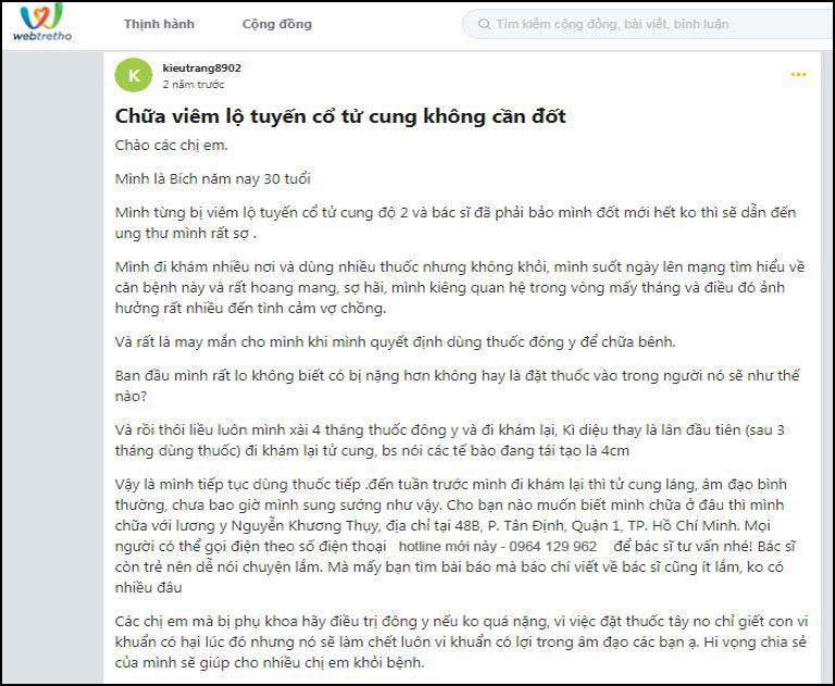 Chia sẻ của người bệnh về bài thuốc của bác sĩ Nguyễn Khương Thụy