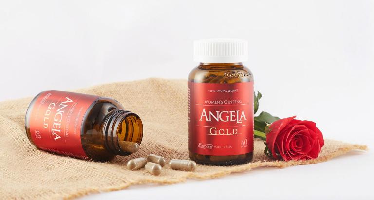 Sâm Angela Gold giúp da trắng sáng, mịn màng, xương chắc khỏe, giảm trầm cảm, bốc hỏa, cải thiện khô hạn âm đạo,...