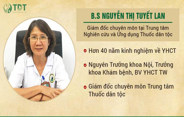 Bác sĩ Tuyết Lan - người đứng đầu ban chuyên đề nghiên cứu Thanh bì dưỡng can thang