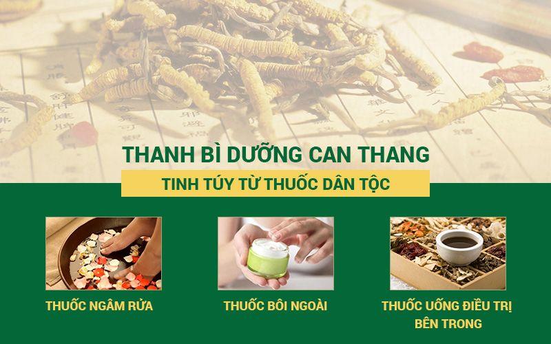 Thanh bì Dưỡng can Thang điều trị cho trẻ bị nổi mụn ngứa ở chân và tay