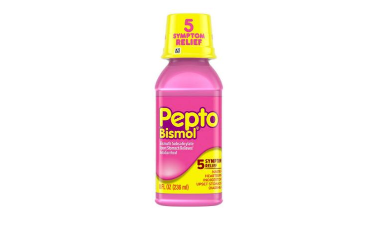 Thuốc Pepto-Bismol điều trị tiêu chảy được bào chế ở dạng hỗn dịch uống và viên nén.