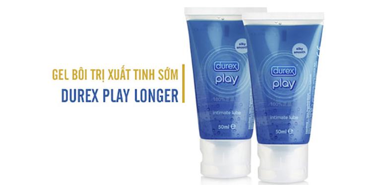 huốc bôi chống xuất tinh sớm Durex Play Longer là sản phẩm nổi tiếng của Anh Quốc, được sử dụng khá phổ biến có tác dụng nâng cao đời sống chăn gối của nhiều cặp tình nhân