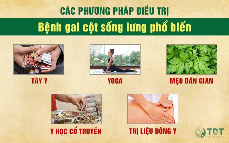 Các phương pháp điều trị gai cột sống lưng