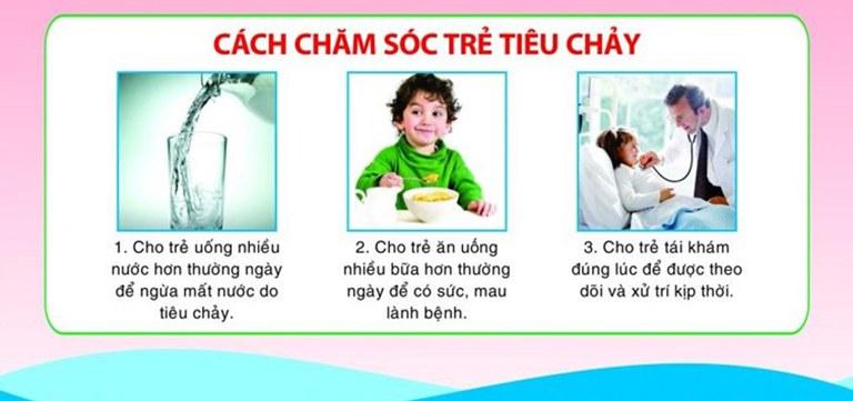 Các biện pháp chăm sóc trẻ khi bị tiêu chảy