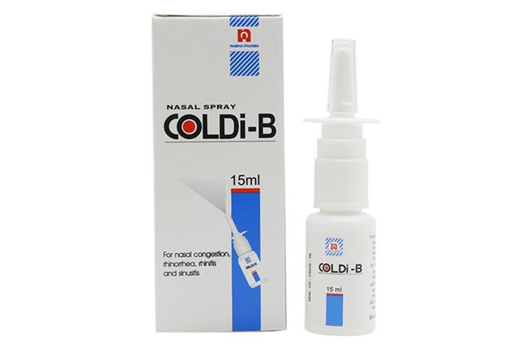 Thuốc xịt Coldi-B là sản phẩm điều trị viêm mũi dị ứng tốt với chất lượng và giá thành khá rẻ