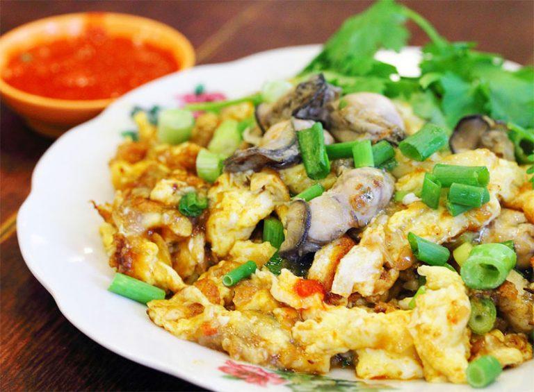 Hàu chiên trứng là một trong những món ăn tốt cho tinh trùng nam giới không nên bỏ qua