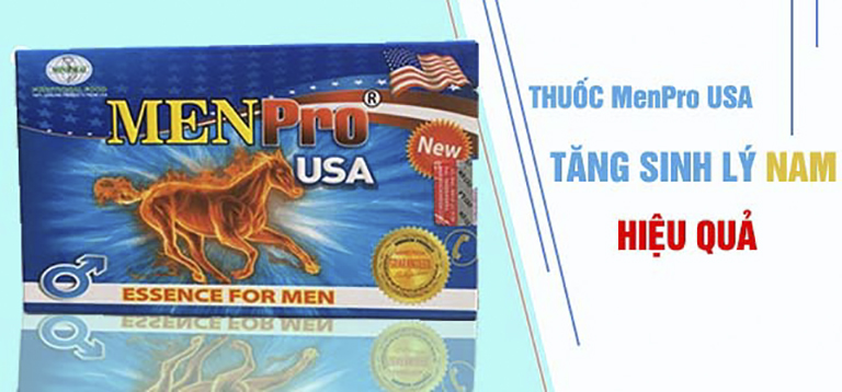 Thuốc tăng cường sinh lý nam MenPro USA kích thích sản xuất nội tiết tố nam testosterone