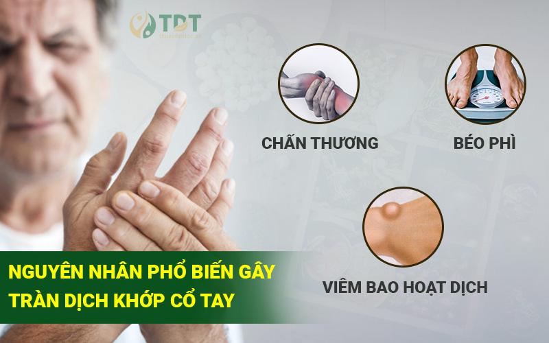 Nguyên nhân gây bệnh tràn dịch khớp cổ tay